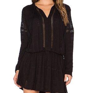 Free People Black Crochet Dress Size Small